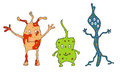 Illustration Of Different Germs Stock Photography