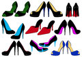 Illustration of different shoes Stock Photography