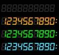 Digital numbers set Royalty Free Stock Photo