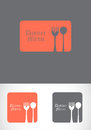 Illustration of Dinner spoon set. Stock Image