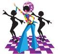 Illustration Of Disco Dancers ...