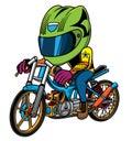 illustration of a drag motorbike rider Royalty Free Stock Photo