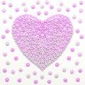 Purple love heart background. Illustration of purple color.