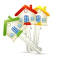 Illustration of dream home key on white background Royalty Free Stock Photography