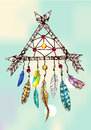 Illustration of dreamcatcher Royalty Free Stock Photo