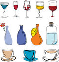 Illustration of drinks Royalty Free Stock Images