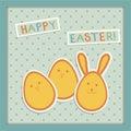 Illustration on easter eggs