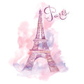 Illustration with Eiffel tower Royalty Free Stock Photo