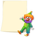 Illustration eines leeren raumes mit einem clown auf einem weißen hintergrund Stockfotografie