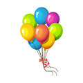Illustration: Elements Set: A Bunch of Balloon. Royalty Free Stock Photo