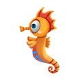 Illustration: Elements Set: Sea Horse. Royalty Free Stock Photo