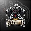 Elephant head mascot logo design