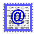 Illustration of an email stamp Royalty Free Stock Photo