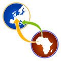 Illustration about emigration from Africa Royalty Free Stock Photo