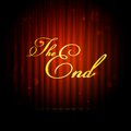 Illustration of the end message on curtain Stock Image