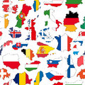 Illustration europe country flag seamless pattern Royalty Free Stock Photography