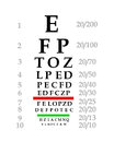 Illustration eye chart Royalty Free Stock Photo