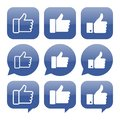 Facebook like icon vector collection