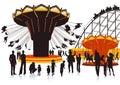 Illustration Of A Fairground