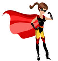 Illustration featuring a super hero sexy beautiful woman showing her muscles isolated on white background eps file is available Royalty Free Stock Photos