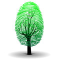 Illustration fingerprint as symbol ecology Stock Photos
