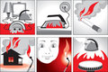 Illustration on fire safety Royalty Free Stock Photos