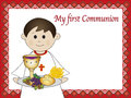 Illustration for first communion for boy Stock Photos