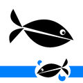 Illustration of fish logo on white background Royalty Free Stock Photos
