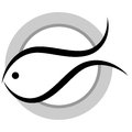 Illustration of fish logo on white background Royalty Free Stock Photography