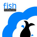 Illustration of fish restaurant logo Royalty Free Stock Images