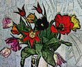 Illustration of flowers in the style of oil painting