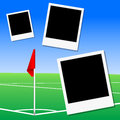 Illustration of a football pitch corner flag vector Stock Photos
