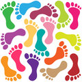 Illustration footprint as colorful background Royalty Free Stock Photo
