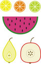 Illustration of fruits Royalty Free Stock Photography