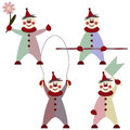 Illustration of funny clowns vector background with Royalty Free Stock Images