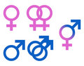 Illustration Gender Symbols Royalty Free Stock Images