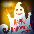 Illustration of a ghost Happy Halloween Stock Photos