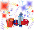 Illustration-Gifts Royalty Free Stock Photography