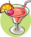Illustration of a glass of strawberry drink Royalty Free Stock Images