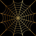 Illustration of gold cobweb vector Royalty Free Stock Photography