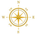 Illustration golden compass north south east west additional vector eps file available Stock Image
