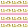 Illustration of golden palm tree patterns with pink horizontal lines on a white background Royalty Free Stock Photo