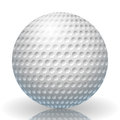 Illustration of a golf ball on a white background Stock Image