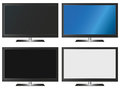 Illustration graphic vector flatscreen with copyspace for the creative use in design Royalty Free Stock Photo