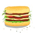 Illustration hamburger vector eps no effects Stock Photos