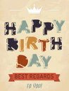 Illustration happy birthday card vector Stock Photos
