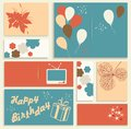 Illustration for happy birthday card vector Stock Image