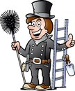 Illustration of an Happy Chimney Sweep Royalty Free Stock Photo
