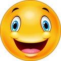 Happy smiley emoticon face Royalty Free Stock Photo