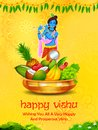 Happy Vishu new year Hindu festival celebrated in the Indian state of Kerala Royalty Free Stock Photo
